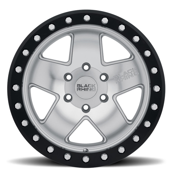 Black Rhino Crawler Beadlock Silver Wheels
