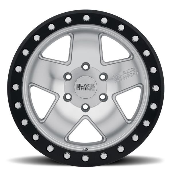 Black Rhino Crawler Beadlock Silver Wheels