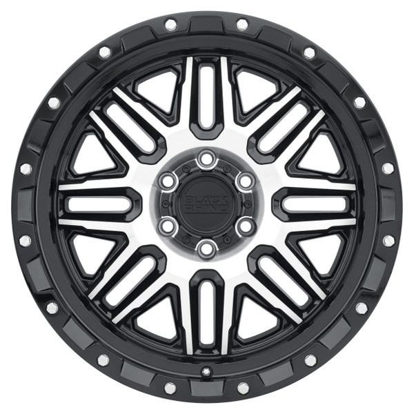 Black Rhino Alamo Machined Gloss Black Wheels