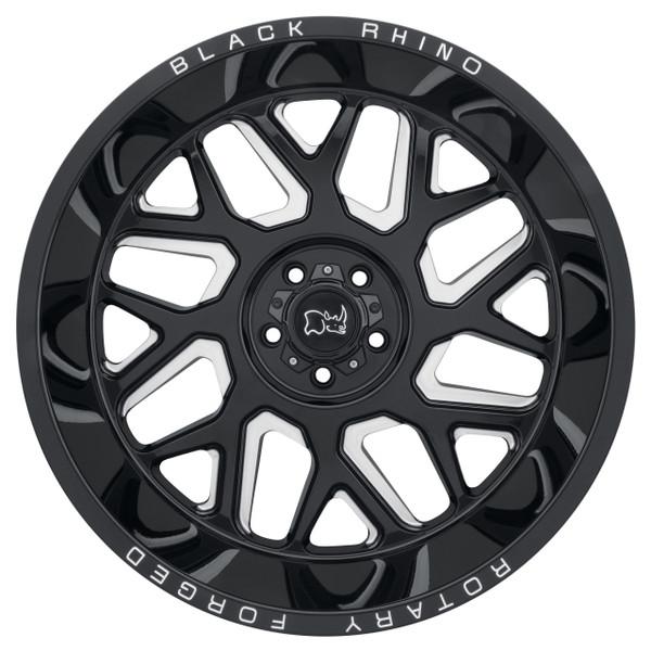 Black Rhino Reaper Milled Gloss Black Wheels