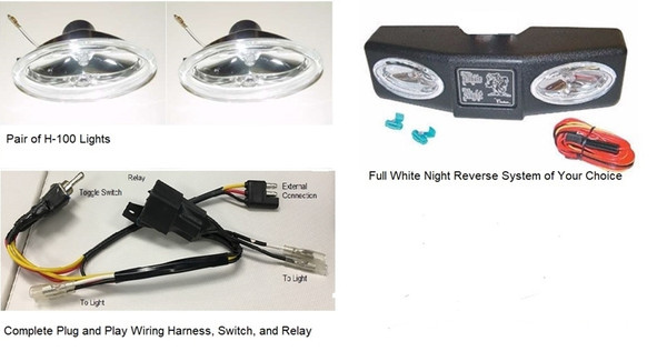 White Night Hitch Receiver Mounted Reverse Lights Includes Spare Parts