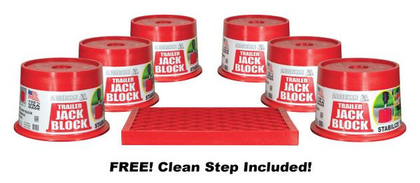 Magnetic Trailer Jack Block 6 Pack