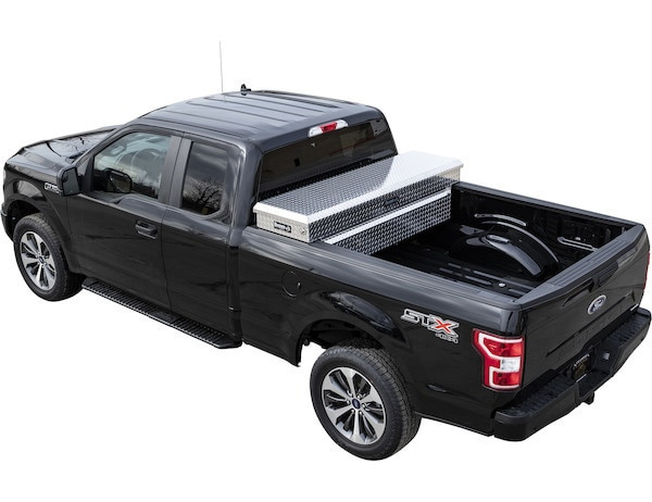 Truck Crossover Toolbox Silver Diamond Tread Aluminum Extra Deep