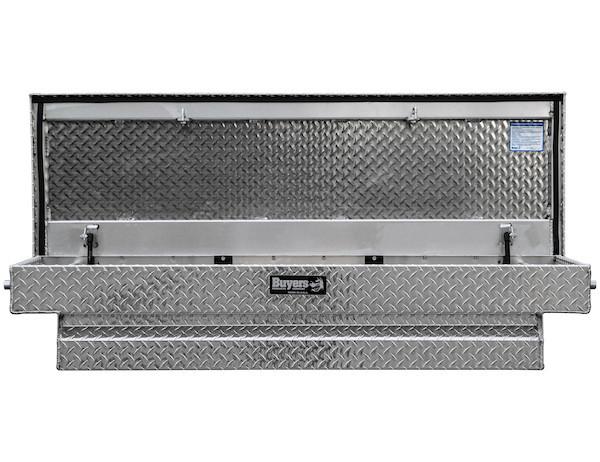 Crossover Mid-Size Truck Toolbox Silver Diamond Tread Aluminum