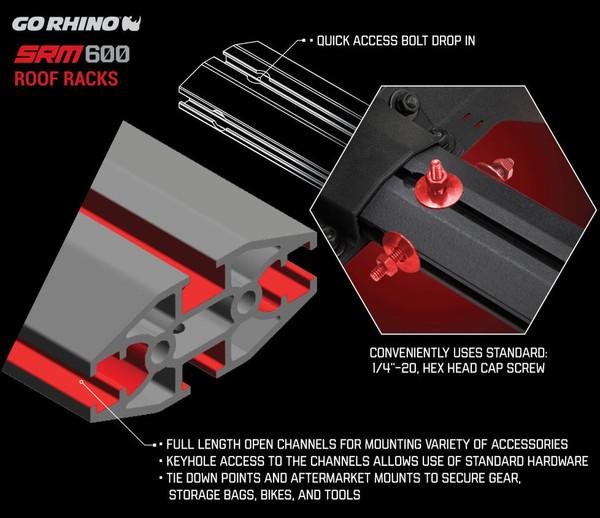 SRM600 Three Sided Tubular Roof Rack