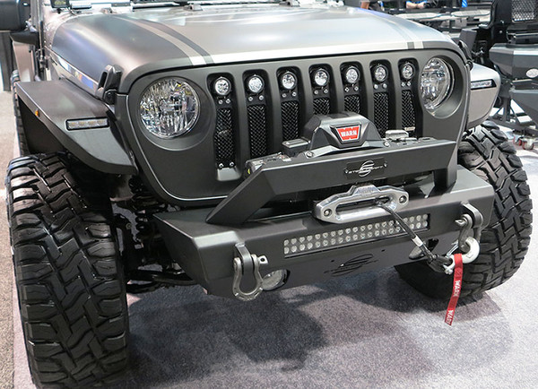 Stubby Front Bumper - Shown With Customer Provided Accessories