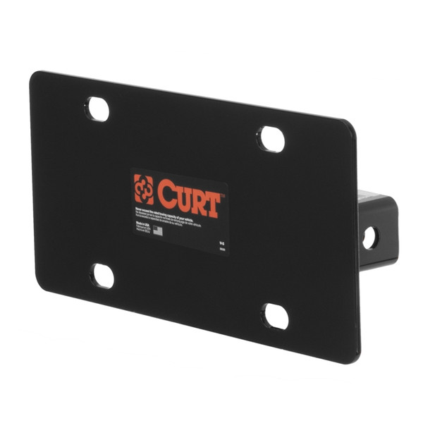 Hitch-Mounted License Plate Holder