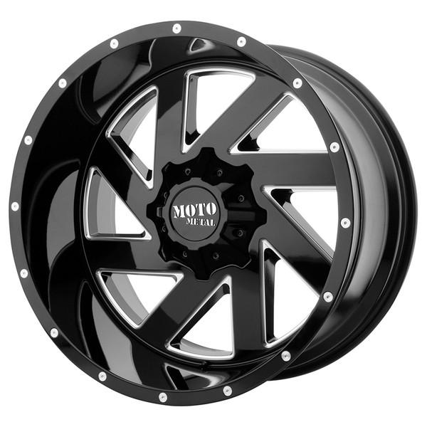 Moto Metal Milled Gloss Black Melee Wheels