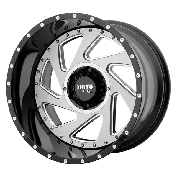 Moto Metal Machined Gloss Black Change Up Wheels
