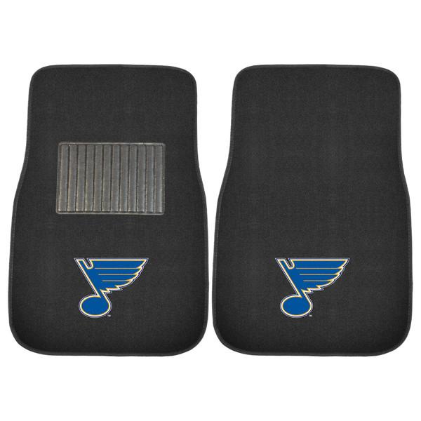 FanMats St. Louis Blues NHL 2pc Embroidered Car Mat Set