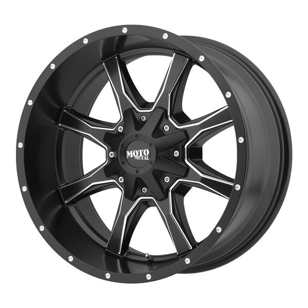 Moto Metal Satin Black Milled MO970 Wheels