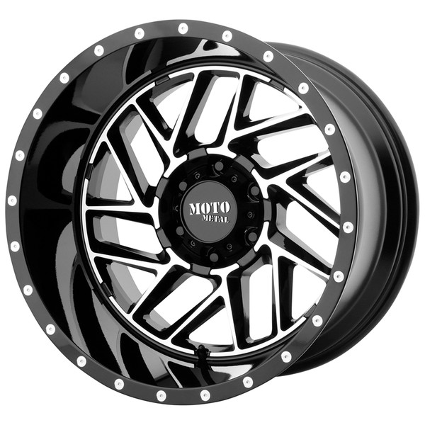 Moto Metal Machined Gloss Black Breakout Wheels
