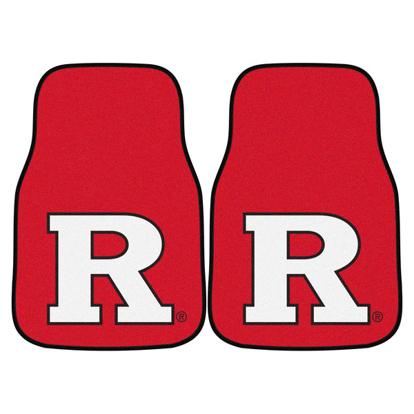 FanMats Rutgers 2pc Carpeted Car Mats