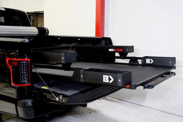 Bed Slide Cargo Tray Black Contractor 1500 lbs