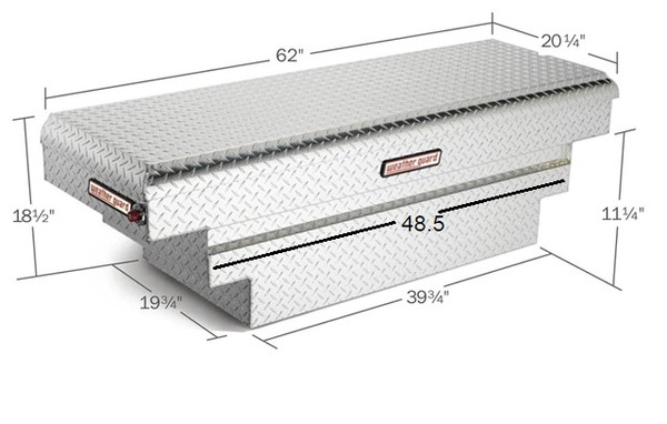 Single Lid Aluminum Crossover Compact Truck Tool Box - Deep