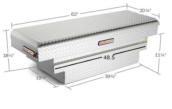 Single Lid Aluminum Crossover Compact Truck Tool Box - Deep