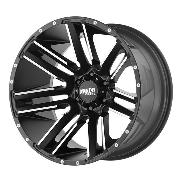 Moto Metal Machined Matte Black Razor Wheels