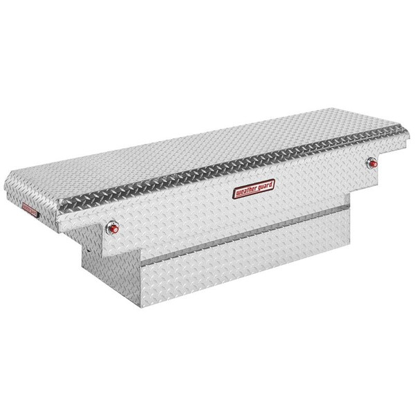 Single Lid Aluminum Crossover Compact Truck Tool Box - Low Profile