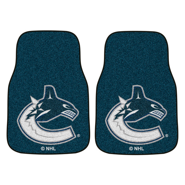 FanMats Vancouver Canucks NHL 2pc Printed Carpet Car Mats