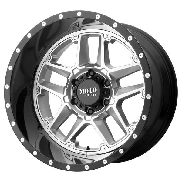 Moto Metal Silver & Black Sentry Wheels