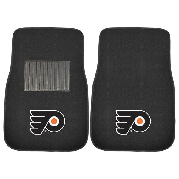 FanMats Philadelphia Flyers NHL 2pc Embroidered Car Mats