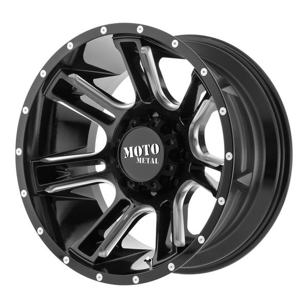 Moto Metal Milled Gloss Black AMP Wheels