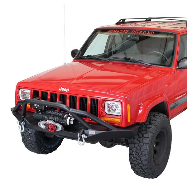 Cherokee XJ Front Winch Bumper W/Grille Guard Bull