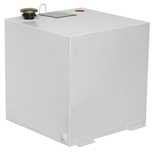 Square 50 Gal. In White