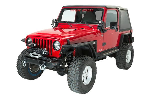 Jeep TJ Winch Plate Steel 97-06 Wrangler TJ Black