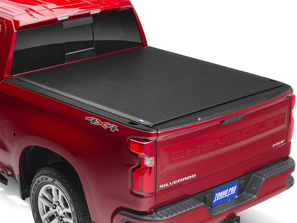 Tonnopro Loroll Roll Up Cover Red 19 20 Silverado 1500 Closed