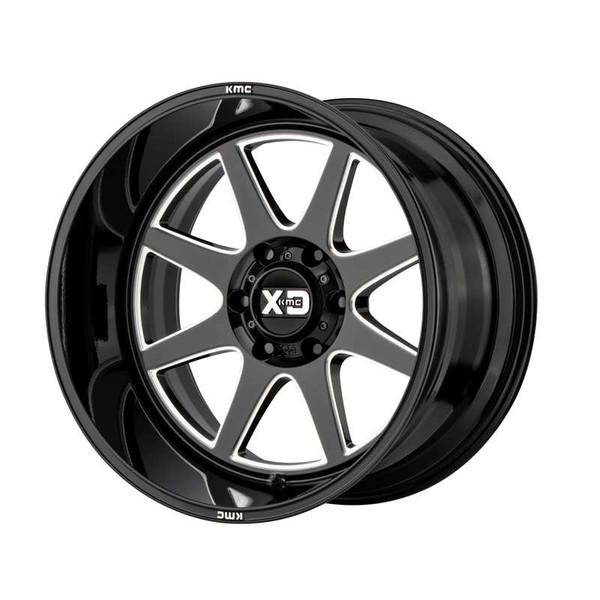 XD Series Pike Milled Gloss Black Wheels