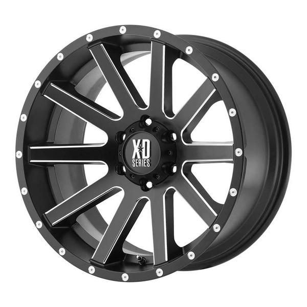 XD Series Heist Milled Matte Black Wheels