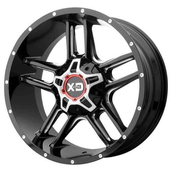XD Series Clamp Milled Gloss Black Wheels