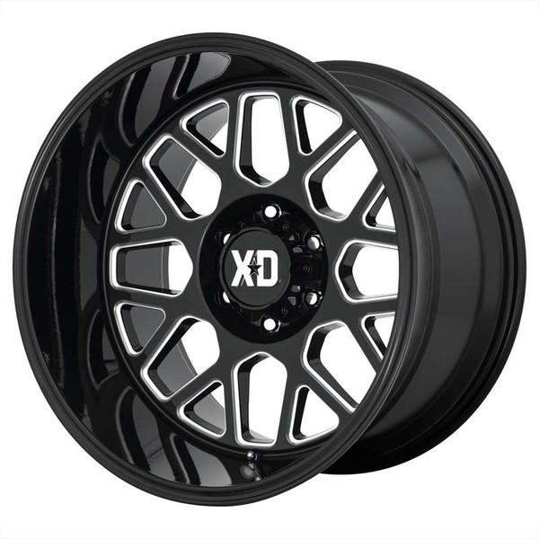 XD Series Grenade 2 Milled Gloss Black Wheels