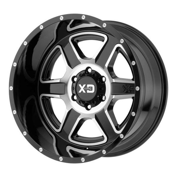 XD Series Fusion Machined Gloss Black Wheels
