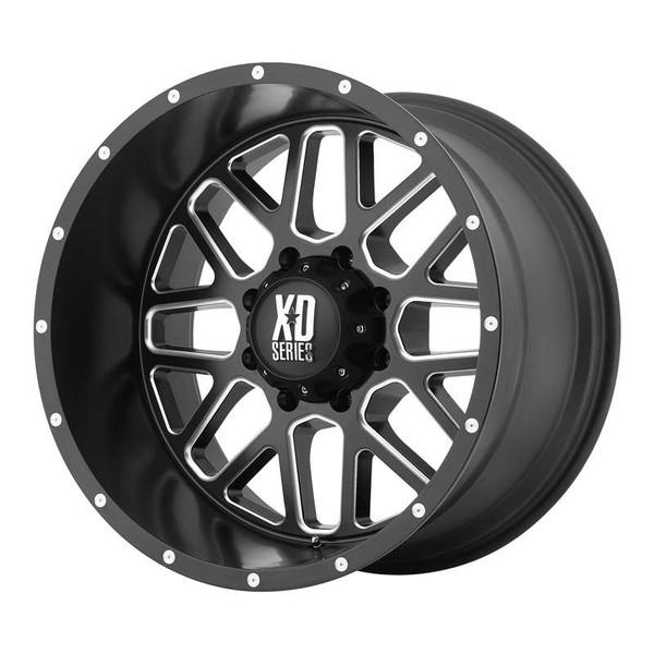 XD Series Grenade Milled Matte Black Wheels