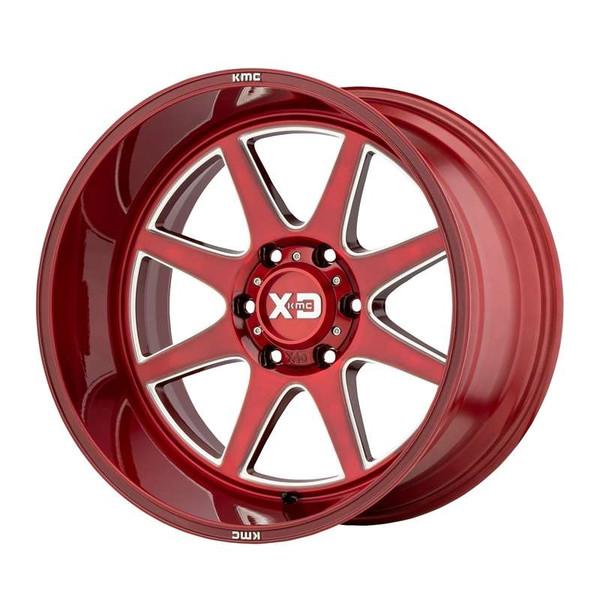 XD Series Pike Milled Red Wheels