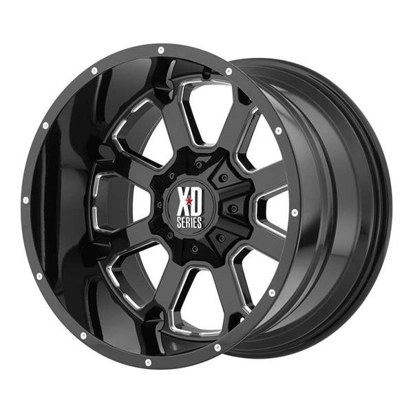 XD Series Buck 25 Milled Gloss Black Wheels
