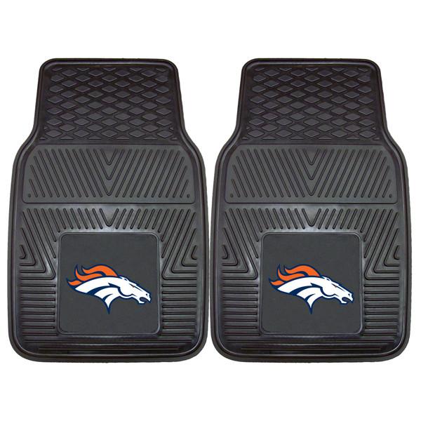 FanMats Denver Broncos NFL 2pc Vinyl Car Mats