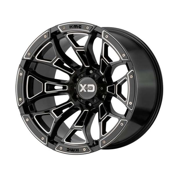 XD Series Boneyard Milled Gloss Black Wheels