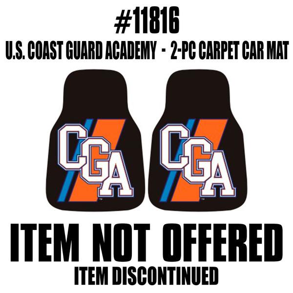 FanMats USCG Academy 2pc Printed Carpet Car Mats