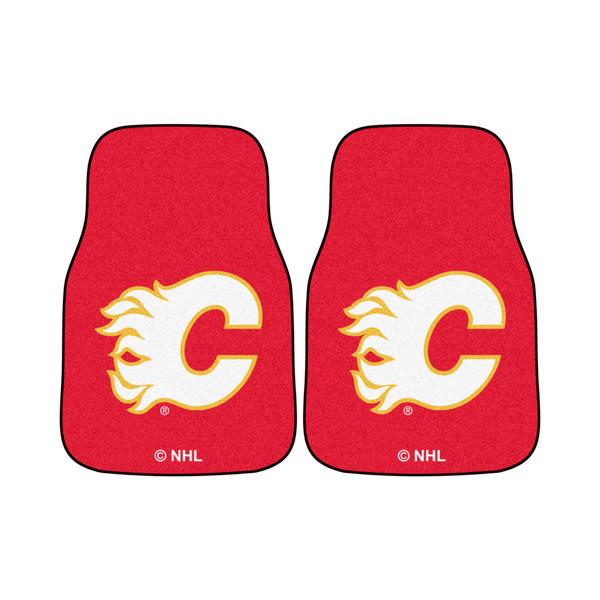FanMats Calgary Flames NHL 2pc Printed Carpet Car Mats