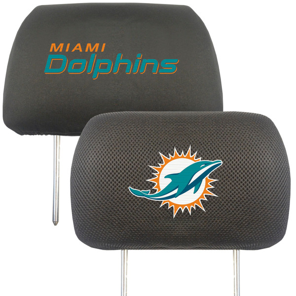 Miami Dolphins NFL Head Rest Cover
