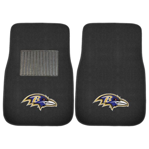 Baltimore Ravens NFL 2pc Embroidered Car Mat Set