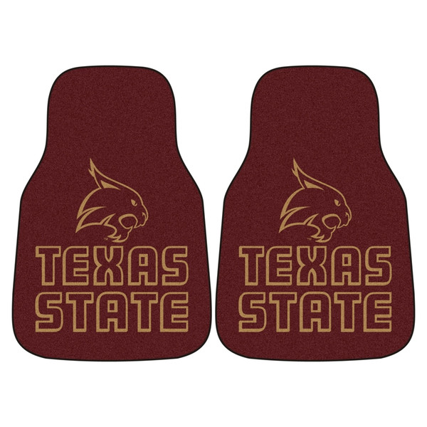 Texas State 2pc Carpeted Car Mats