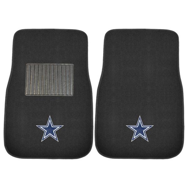 FanMats Dallas Cowboys NFL 2pc Embroidered Car Mat Set