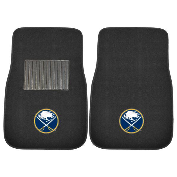 FanMats Buffalo Sabres NHL 2pc Embroidered Car Mats