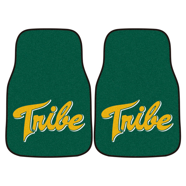 William and Mary 2pc Carpeted Car Mats