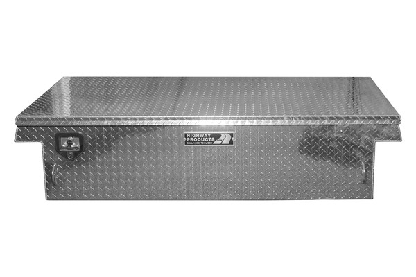 Single Lid Aluminum Low Profile Toolbox Full Size Truck