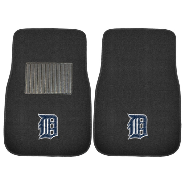 FanMats Detroit Tigers MLB 2pc Embroidered Car Mats